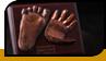 Abdruck der Hohlhand und der Fußsohle